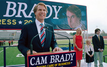 This film image released by Warner Bros. shows Will Ferrell as Cam Brady in a scene from