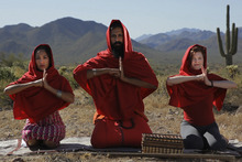 Filmmaker Vikram Gandhi, aided by two accomplices, poses as a fake guru, Sri Kumaré, to gather followers in Phoenix, Ariz., in the documentary