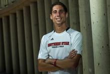Chris Detrick  |  The Salt Lake Tribune Southern Utah University senior Cam Levins poses for a portrait Tuesday May 29, 2012. Levins is an aspiring Olympic runner for Canada.