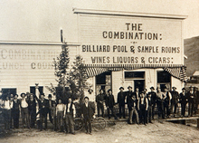 The Combination, a Billiards hall and saloon in Corrine, Utah around 1900. Courtesy of the Utah Historical Society