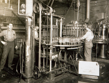 Bottling machine at Fisher Brewery in 1914. Courtesy of the Utah Historical Society
