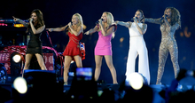 The Spice Girls perform during the Closing Ceremony at the 2012 Summer Olympics, Sunday, Aug. 12, 2012, in London. (AP Photo/Kristy Wigglesworth)