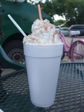 Kathy Stephenson     The Salt Lake Tribune Frozen Hot Chocolate from the Island Flavor truck in Holladay.