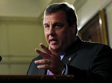 New Jersey Gov. Chris Christie will be featured speaker at Utah Gov. Gary Herbert's main fundraising gala in September. Christie also has been tapped to be keynote speaker at the Republican National Convention in Tampa, Fla.  (AP Photo/Mel Evans)