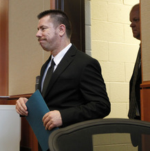 Al Hartmann  |  The Salt Lake Tribune   Roberto Roman enters Fourth District Court in  Spanish Fork on Monday, Aug. 13 for jury selection for his murder trial.   He is accused of killing Millard County Deputy Josie Greathouse Fox.