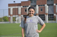 Courtesy Ben Raskin Margo Hickman, a striker for Westminster, is looking to improve on her mark of 11 goals set last year for the Griffins.