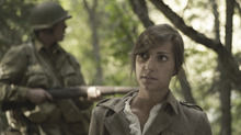 Emile (Virginie Fourtina Anderson) in Saints and Soldiers: Airborne Creed. Courtesy Go Films