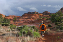 Hikers in Snow Canyon State Park in Ivins. Courtesy Utah State Parks.