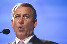 Manuel Balce Ceneta  |  Associated Press file photo  House Speaker John Boehner of Ohio was in Utah on Wednesday to raise money and rally support for 4th Congressional District candidate Mia Love's campaign. Love is battling Rep. Jim Matheson for the new House seat.