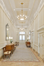 Grand hallway in the Brigham City Utah Temple. Courtesy LDS Newsroom