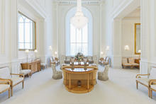 Celestial room in the Brigham City Utah Temple. Courtesy LDS Newsroom