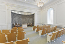 Instruction room in the Brigham City Utah Temple. Courtesy LDS Newsroom