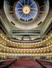 Bass Performance Hall in Dallas, Texas, designed by David M. Schwarz and HKS Architects. Courtesy HKS Architects