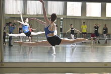 Courtesy photo A contestant flies through the air during auditions for