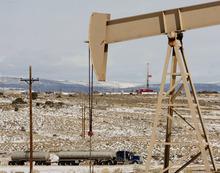 Trent Nelson  |  The Salt Lake Tribune Equipment in the oil fields of the Uinta Basin Tuesday, February 21, 2012 southeast of Vernal, Utah.