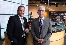 Rick Egan    The Salt Lake Tribune  Scott Webb, left, co-owner of of Webb Audio Visual with brother Steve, said that despite the uncertainties in the economy his Salt Lake City-based company is in a mood to hire.