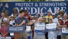 Republican vice-presidential candidate Rep. Paul Ryan, R-Wis., campaigns at The Villages, Fla., Saturday, Aug. 18, 2012.(AP Photo/Phelan M. Ebenhack)
