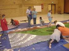 Courtesy Barbara Knowlden Students at Lake Ridge Elementary prepare sets for an opera funded by a $1,000 grant from Kris wine.