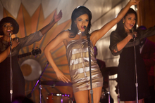 This undated film image released by TriStar Pictures shows, from left, Tika Sumpter, Carmen Ejogo and Jordin Sparks in a scene from
