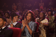 This undated film image released by TriStar Pictures shows Whitney Houston, center, in a scene from