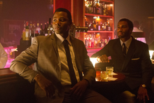 This undated film image released by TriStar Pictures shows Derek Luke, left, and Omari Hardwick in a scene from