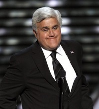 FILE - In this Wednesday, July 13, 2011 file photo, Jay Leno presents the Jimmy V Award for Perseverance at the ESPY Awards  in Los Angeles. Published reports say The Tonight Show has laid off about two dozen workers and host Jay Leno has taken a large pay cut to save the jobs of other staffers, Saturday, Aug. 18, 2012. (AP Photo/Matt Sayles, File)