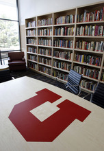 Francisco Kjolseth  |  The Salt Lake Tribune The new Donna Garff Marriott Residential Scholars Hall  includes a library.