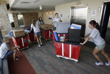 Francisco Kjolseth  |  The Salt Lake Tribune The U.'s new Donna Garff Marriott Residential Scholars Hall will house 309 students and resident advisors in apartment-style units.