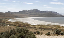 Al Hartmann  |  Tribune file photo View of the west side of Antelope Island with White Rock Bay. The state parks board has approved a rule on deer and big horn sheep hunts.