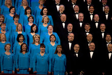 Kim Raff | The Salt Lake Tribune The Mormon Tabernacle Choir sings during