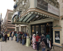 Tribune file photo Hundreds wait in line at the Capitol Theatre to buy tickets for the show