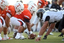 Chris Detrick  |  The Salt Lake Tribune KSL did a fine job analyzing Timpview-Alta, pictured, and other season-opening games on their Saturday prep football review show. Friday's pregame broadcast was more of a mixed bag.