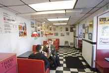 Paul Fraughton | The Salt Lake Tribune Customers enjoy  a milk shake at The Iceberg Drive Inn at 3900 South and 900 East in Salt Lake City.
