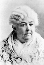 The Associated Press Elizabeth Cady Stanton, reformer, advocate of women's rights in an undated photo. LDS women formed alliances with this trailblazing women's activist.