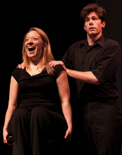 Actors from the Plan-B Theatre Company (April Fossen and Andy Rindlisbach from Slam 2011)  will be one of six nonprofit arts company's performing during The Rose Exposed event on Sept. 1. (Courtesy photo by Rick Pollock)