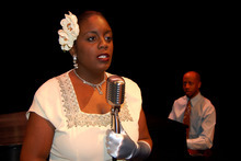 Dee-Dee Darby-Duffin portrays Billie Holiday in Pygmalion Productions'