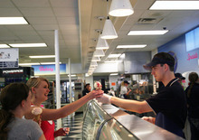 Kim Raff | The Salt Lake Tribune LaVell Vanilla, named after Brigham Young University's legendary football coach LaVell Edwards, is the top-selling ice cream at the BYU Creamery on Ninth in Provo.