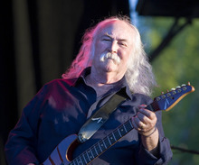 Paul Fraughton | The Salt Lake Tribune   David Crosby performs with Crosby Stills and Nash at Red Butte Garden in Salt Lake City on Thursday, Aug. 23, 2012.