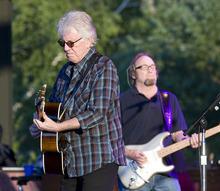 Paul Fraughton | The Salt Lake Tribune  Graham Nash and Stephen Stills  perform with Crosby Stills and Nash at Red Butte Garden in Salt Lake City on Thursday, Aug. 23, 2012.