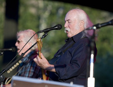Paul Fraughton | The Salt Lake Tribune  Graham Nash and David Crosby perform with Crosby Stills and Nash at Red Butte Garden in Salt Lake City on Thursday, Aug. 23, 2012.