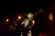 Kim Raff | The Salt Lake Tribune Mumford & Sons banjoist Country Winston Marshall plays during the band's concert at Saltair in Magna on Aug. 22, 2012.