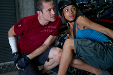 This film image released by Columbia Pictures shows Joseph Gordon-Levitt, left, and Dania Ramirez in a scene from