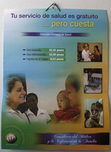 In this Aug 16, 2012 photo, a poster that reads in Spanish