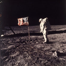 FILE - This July 20, 1969 file photo released by NASA shows astronaut Edwin E.