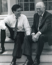 Mitt Romney in 1994 with his father, former Michigan Gov. George Romney. Courtesy of Mitt Romney campaign