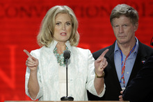 Ann Romney, wife of the Republican presidential candidate Mitt Romney, looks over the podium during a sound check at the Republican National Convention in Tampa, Fla., on Tuesday, Aug. 28, 2012. (AP Photo/J. Scott Applewhite)