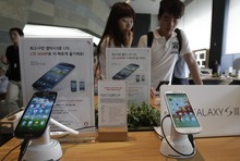 (AP Photo/Ahn Young-joon) Apple has submitted a list of smartphones that it wants banned from sale in the U.S. A Sept. 20 hearing has been scheduled. If the judge agrees, that would affect many Samsung devices, but not the Galaxy S III (displayed above) and Galaxy Note smartphones.