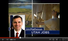 Screen shot of an ad favoring Rep. Jim Matheson paid for by the American Chemical Council. Courtesy YouTube