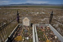 Chris Detrick  | The Salt Lake Tribune The cemetery at the historical site of Iosepa Tuesday, July 27, 2010.  Iosepa was settled by Mormon converts from Hawaii in the 1880s but was later abandoned in 1917.