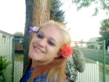 Missing girl Jade Thornberg photographed in June 2012